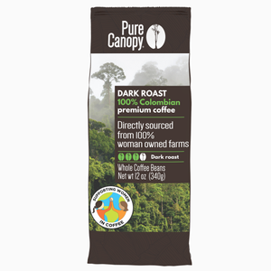 Pure Canopy - Dark Roast Coffee - 12oz Whole Bean