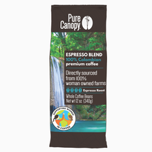 Load image into Gallery viewer, Pure Canopy - Espresso Roast Coffee - 12oz Whole Bean