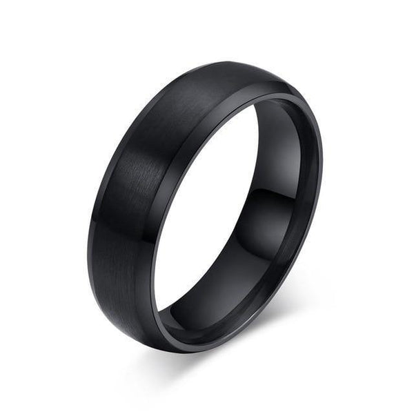 HAGA Shop 5 / black color Vnox Blue Ring 316l stainless steel Party Jewelry For Men Women Matte 6mm Size 4 to 15
