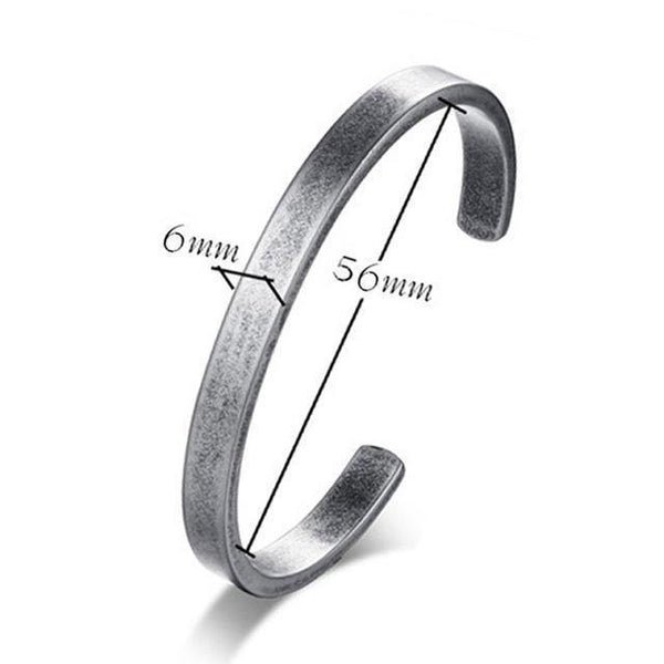 HAGA Shop 56MM Vnox Vintage Viking Cuff Bracelets Bangles for Men Women Simple Classic Pulseras hombre Stainless Steel Male Jewelry