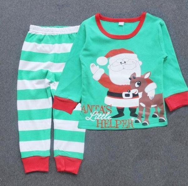c7e3a28a6 HAGA Shop Baby Clothing 1-4T Kids Clothes Christmas Pajamas Long Sleeve  Pullover Striped cartoon · HAGA Shop Baby Clothing White deer / 24M ...