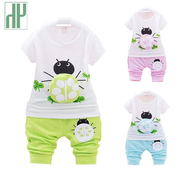 902e2c007 HAGA Shop Baby Clothing Baby boy clothes short sleeved baby girl summer clothes  set fashion t