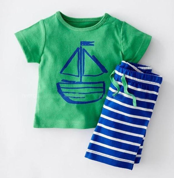 cb4e9e848dde HAGA Shop Baby Clothing green / 2T Boutique Kids clothes Fashion summer  style baby boy clothes