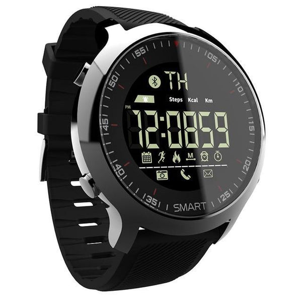 HAGA Shop Smart Watches black Smart Watch Sport Waterproof pedometers Message Reminder Bluetooth Outdoor swimming men smartwatch for ios Android phone