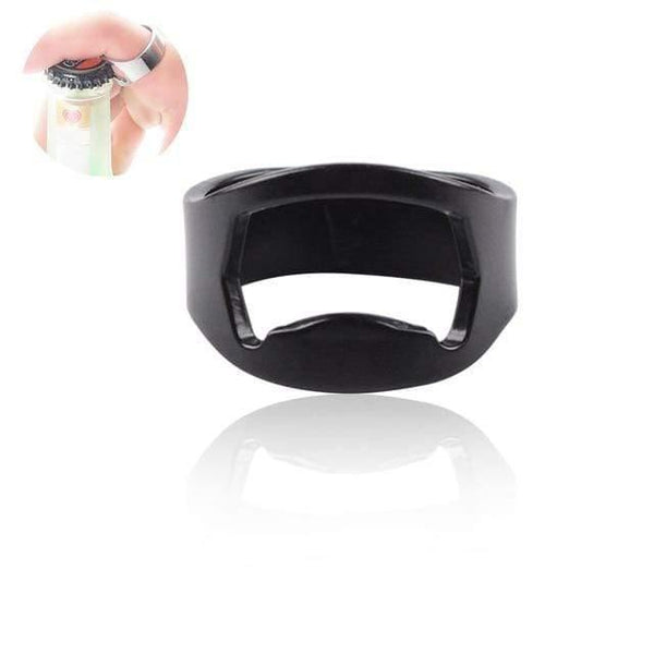 HAGA Shop Black Ring Popper Bottle Opener