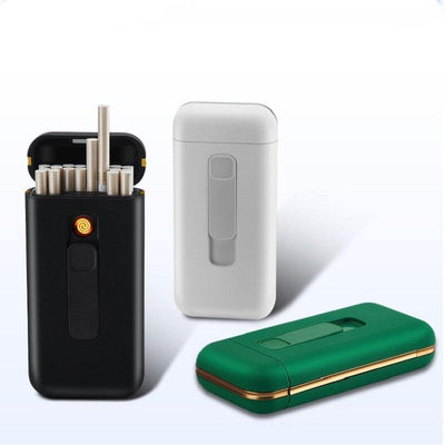 HAGA Shop Cigarette Case Box & Electronic Lighter