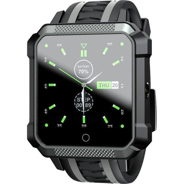 HAGA Shop Gray LOKMAT 4G Smart Watch Men Android Phonewatch IP67 Waterproof Sport SmartWatch GPS Heart Rate Monitor 5.0MP HD Camera for ios