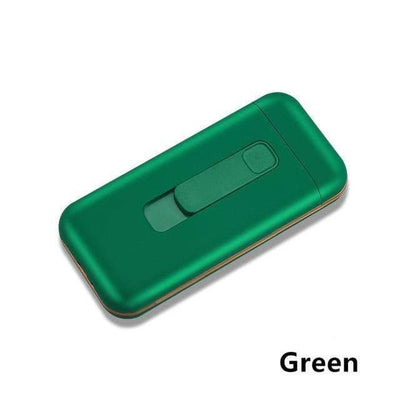 HAGA Shop Green / China Cigarette Case Box & Electronic Lighter
