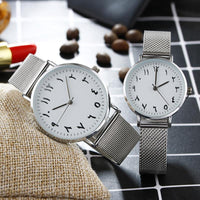 HAGA Shop Lover's Watches Arabic Numbers dial design women's fashion watch stainless steel Ultra thin silver