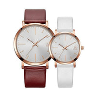 HAGA Shop Lover's Watches couple watches Couple Watches  Waterproof Leather strap Quartz Wristwatch