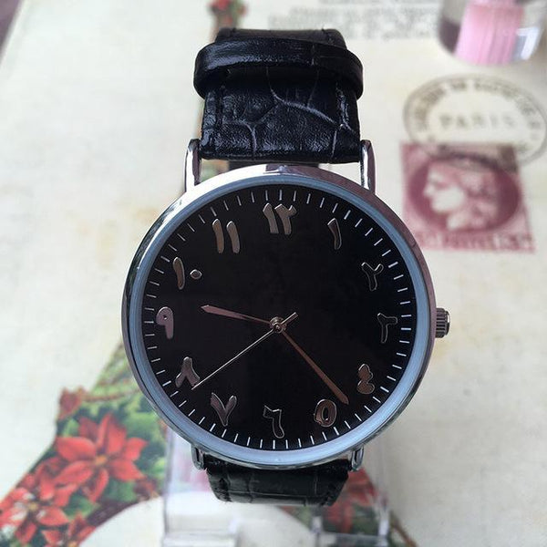 HAGA Shop Lover's Watches Men black / China New Fashion Lover Couple Watches Quartz Clock Waterproof Unique Scale Leather Watch