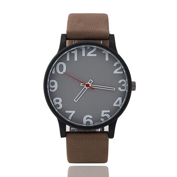 HAGA Shop Lover's Watches Men Dark Brown / China Hot Fashion Brand couple Lover wrist watches red pointer simple style quartz
