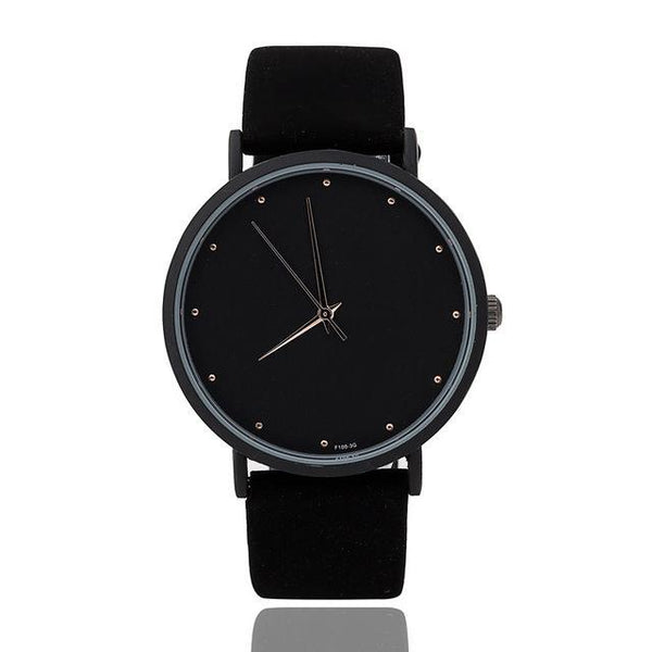 HAGA Shop Lover's Watches Men Full Black / China Simple Watch face fashion brand watches thin pointer men and women quartz clock