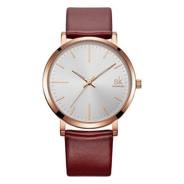 HAGA Shop Lover's Watches watch for men Couple Watches  Waterproof Leather strap Quartz Wristwatch