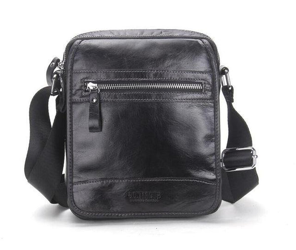 HAGA Shop Men's Bags Black / China Fashion Men Genuine Leather Large Capacity Messenger Bag