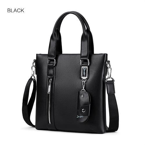 HAGA Shop Men's Bags Black Fashion Men Tote Casual Briefcase Cowhide Leather Messenger Bag