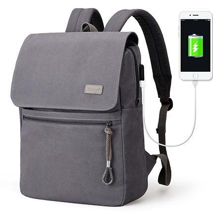 HAGA Shop Men's Bags Gray USB / China / 15 Inch Student Large Capacity School Backpack USB Style Charging