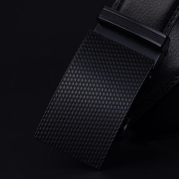 HAGA Shop Men's Belts black CZ015 / 110cm Men Fashionable Belt  High Quality Made From Leather