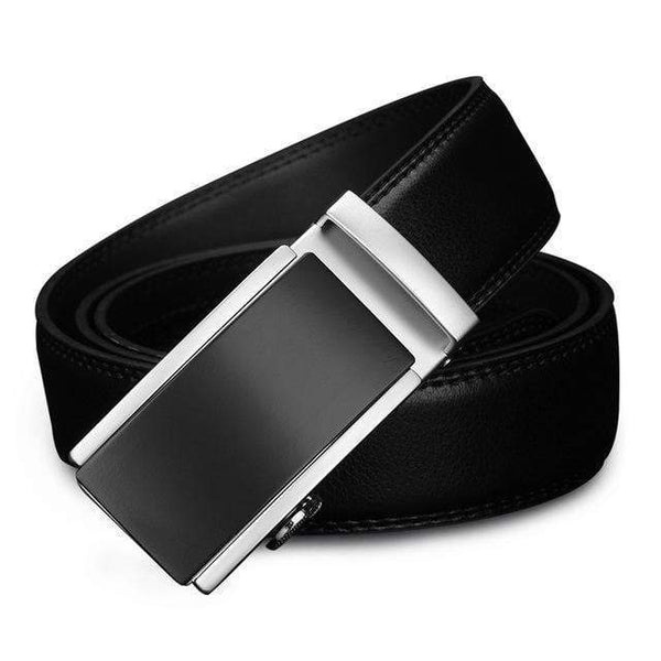 HAGA Shop Men's Belts CZ117 / 110cm Luxury Belts for Men Automatic Alloy Buckle High Grade