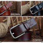 HAGA Shop Men's Belts Fashion Design Genuine Leather 2018 New Men Belts Good Quality