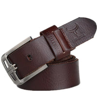 HAGA Shop Men's Belts Genuine Leather Belts for Men Alloy Buckle Fashion Style