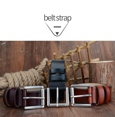 HAGA Shop Men's Belts Genuine Leather Men Belt 2018 High Quality Luxury Three Colors