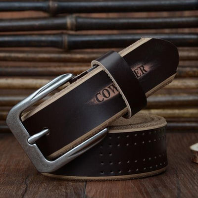 HAGA Shop Men's Belts High Quality Genuine Leather Luxury Strap Belts for Men