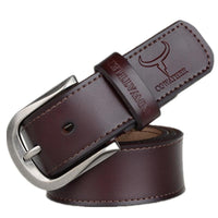 HAGA Shop Men's Belts Men Fashion Pin Buckle Genuine Leather Belt Three Colors Options
