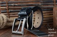 HAGA Shop Men's Belts XF006 black / 100cm Hot Sale Belt For Jean Cowhide Genuine Leather Belts 130CM Big Size