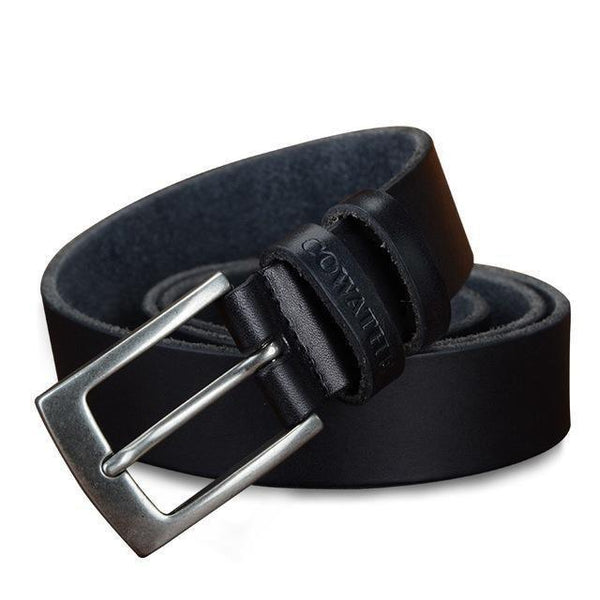 HAGA Shop Men's Belts XF018 black / 100cm Men Unique Belt Cow Genuine Leather Comes In Three Color Options