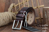 HAGA Shop Men's Belts XF020 coffee / 100cm Genuine Leather Men Belt 2018 High Quality Luxury Three Colors