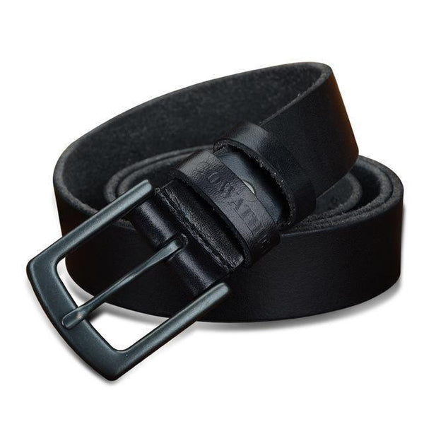 HAGA Shop Men's Belts XF021 black / 100cm Genuine Leather Belts for Men Vintage 2018 New Design