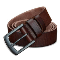 HAGA Shop Men's Belts XF021 brown / 100cm Genuine Leather Belts for Men Vintage 2018 New Design