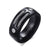 HAGA Shop Men's Jewelry Stylish Black 100% Titanium Ring Men 8MM Unique Male Rings