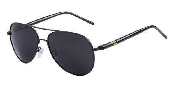 HAGA Shop Men's Sunglasses C01 Black Black Fashion Summer Men's Polarized Sunglasses