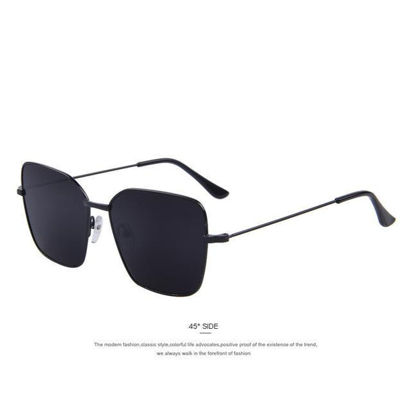 HAGA Shop Men's Sunglasses C01 Black Fashion Men Square Sunglasses
