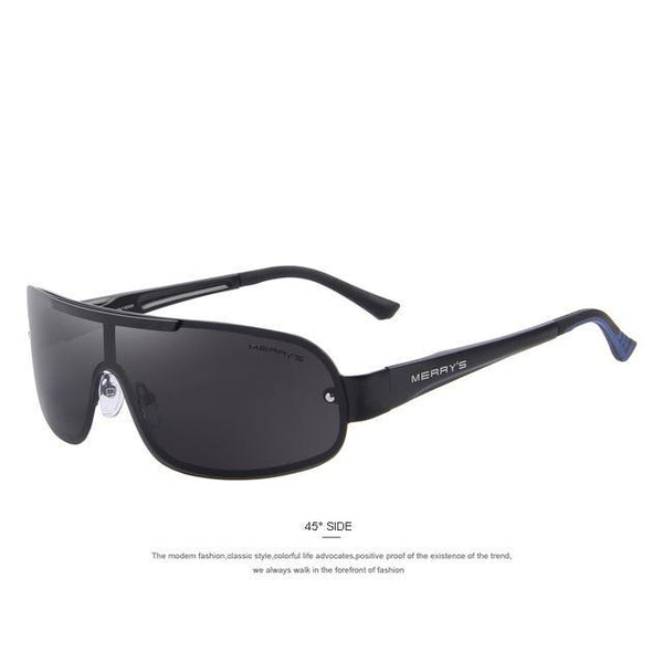 HAGA Shop Men's Sunglasses C01 Black MEN POLARIZED INTEGRATED EYEWEAR SUNGLASSES