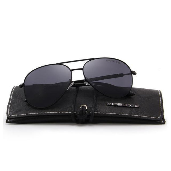 9bb2482d3 HAGA Shop Men's Sunglasses C01 Black Men/Women S'8058 Polarized Sunglasses  UV Protection