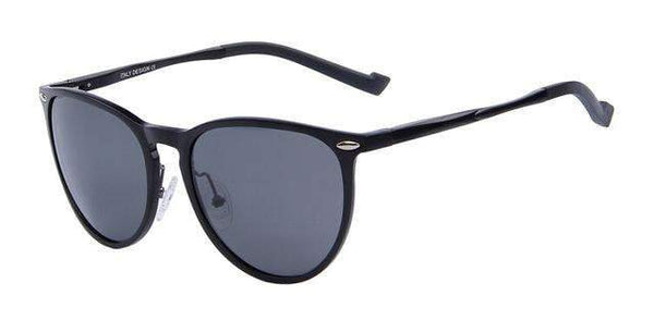 HAGA Shop Men's Sunglasses C01 Black Polarized Sunglasses Italian Design Sunglasses