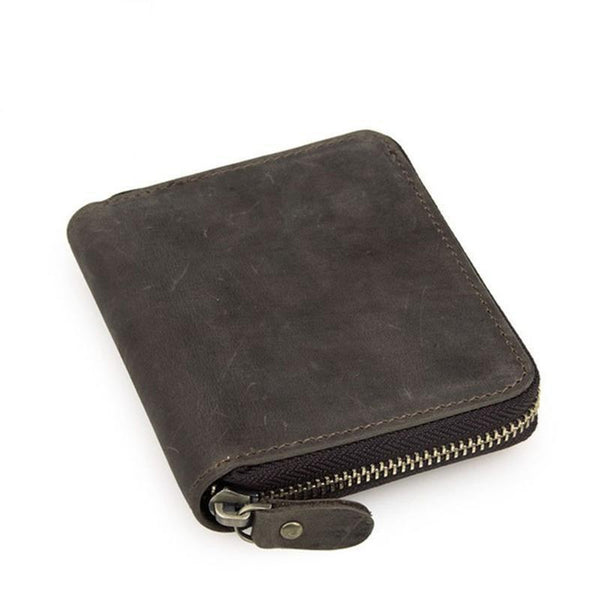HAGA Shop Men's Wallets Men Classic Wallet Made From Cowhide Leather Coffee Color