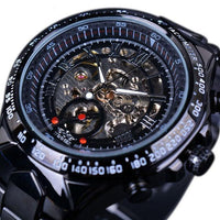 HAGA Shop Men's Watches Black Top Brand Luxury Montre Homme Clock Men Automatic Skeleton Watch