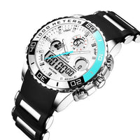 HAGA Shop Men's Watches Blue Luxury Watches Men Rubber LED Digital Men's Quartz Watch Man Sports Army Military Wrist Watch