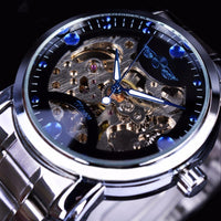 HAGA Shop Men's Watches Men Blue Ocean Fashion Casual Designed Stainless Steel Watch Skeleton Watch