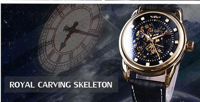 HAGA Shop Men's Watches Top Brand Luxury Montre Homme Clock Men Automatic Skeleton Watch