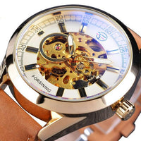 HAGA Shop Men's Watches White Brown Men Casual Sport Series Waterproof Automatic Watch Military Designed