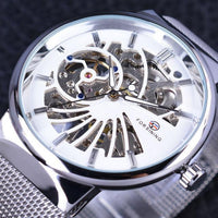 HAGA Shop Men's Watches White Fashion Luxury Thin Case Unisex Design Waterproof Dial Watches