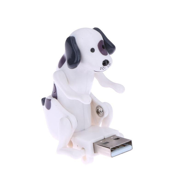 HAGA Shop Portable Mini Cute USB 2.0 Funny Humping Spot Dog Rascal Dog Toy Relieve Pressure for Office Worker Best gift For Festival