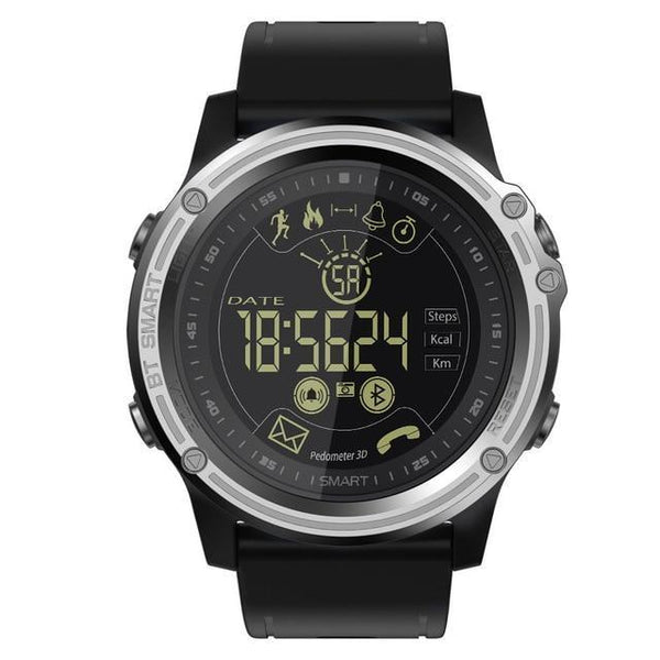 HAGA Shop silvery black LOKMAT Smart Watch Sport Pedometer Waterproof IP68 Bluetooth Men Digital Clock Call Reminder SmartWatch For ios Android Phone
