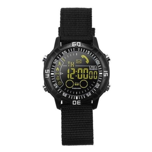 HAGA Shop Smart Watches black Smart watch Waterproof Outdoor Sport digital clock Relogio Masculino Bluetooth Smartwatch Men watch For ios android phone