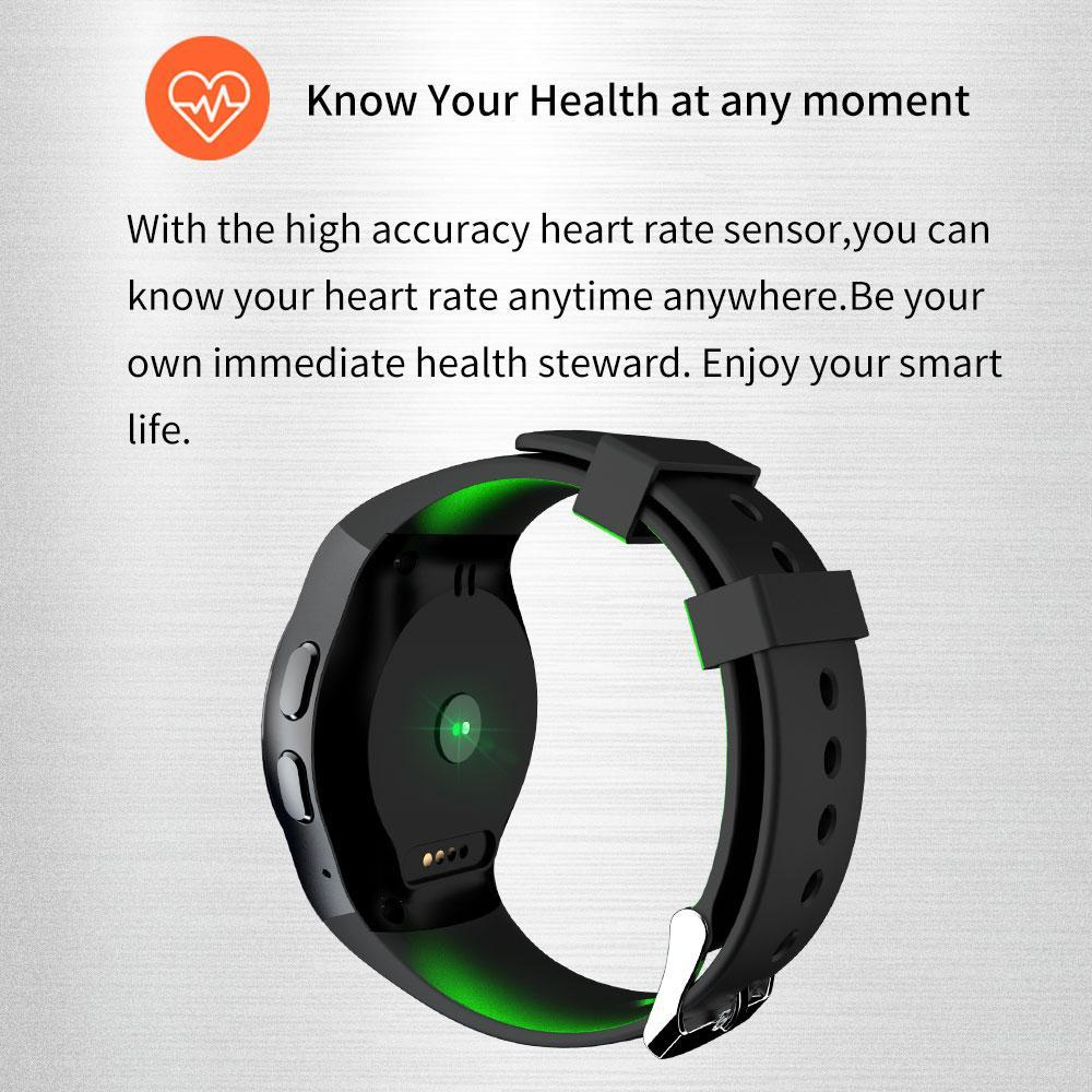 Smartwatch Heart Rate Monitor Sport Pedometer Support SIM Card Smart watch  men For ios and android